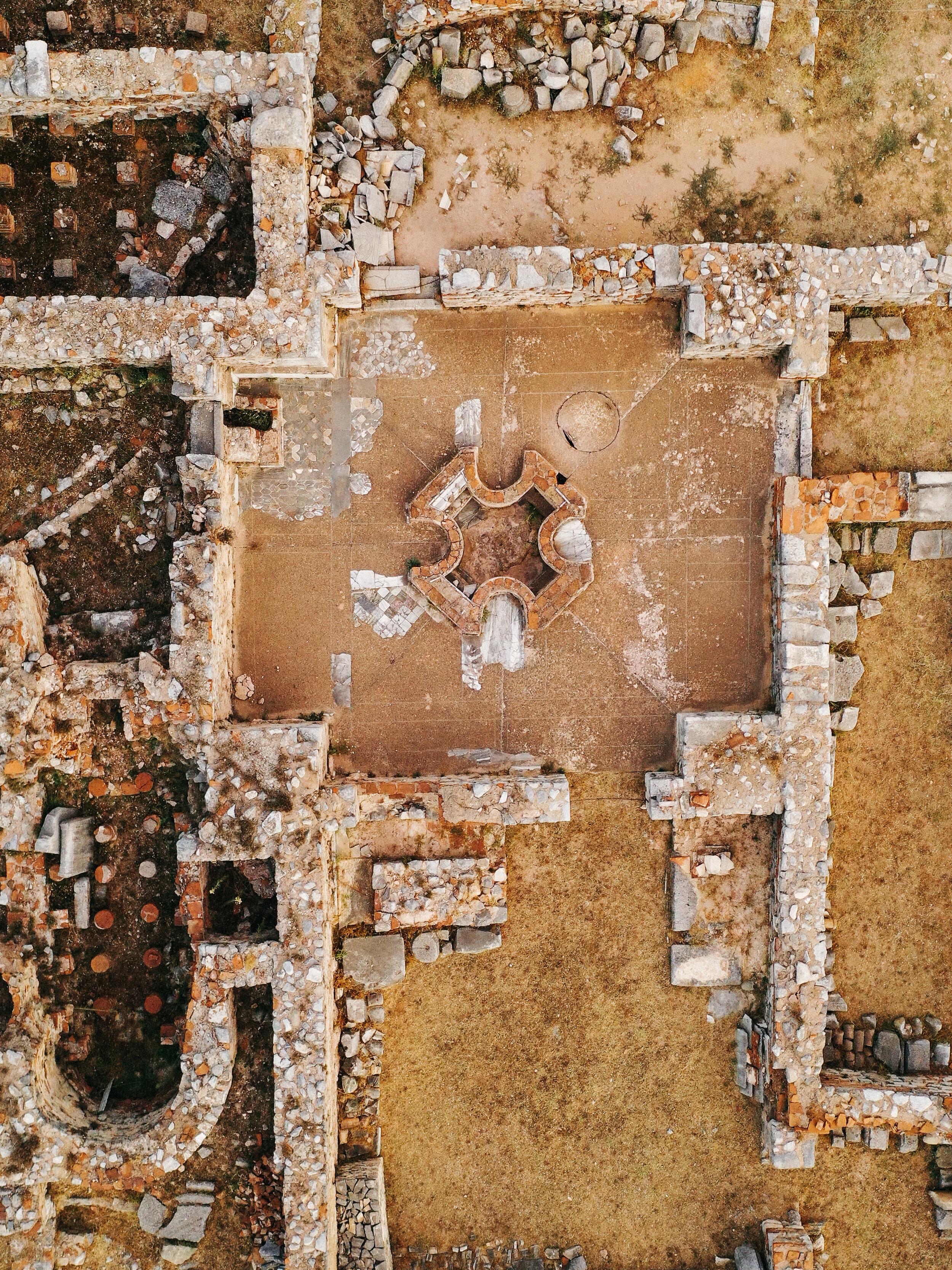 An ancient cross baptismal at Philippi