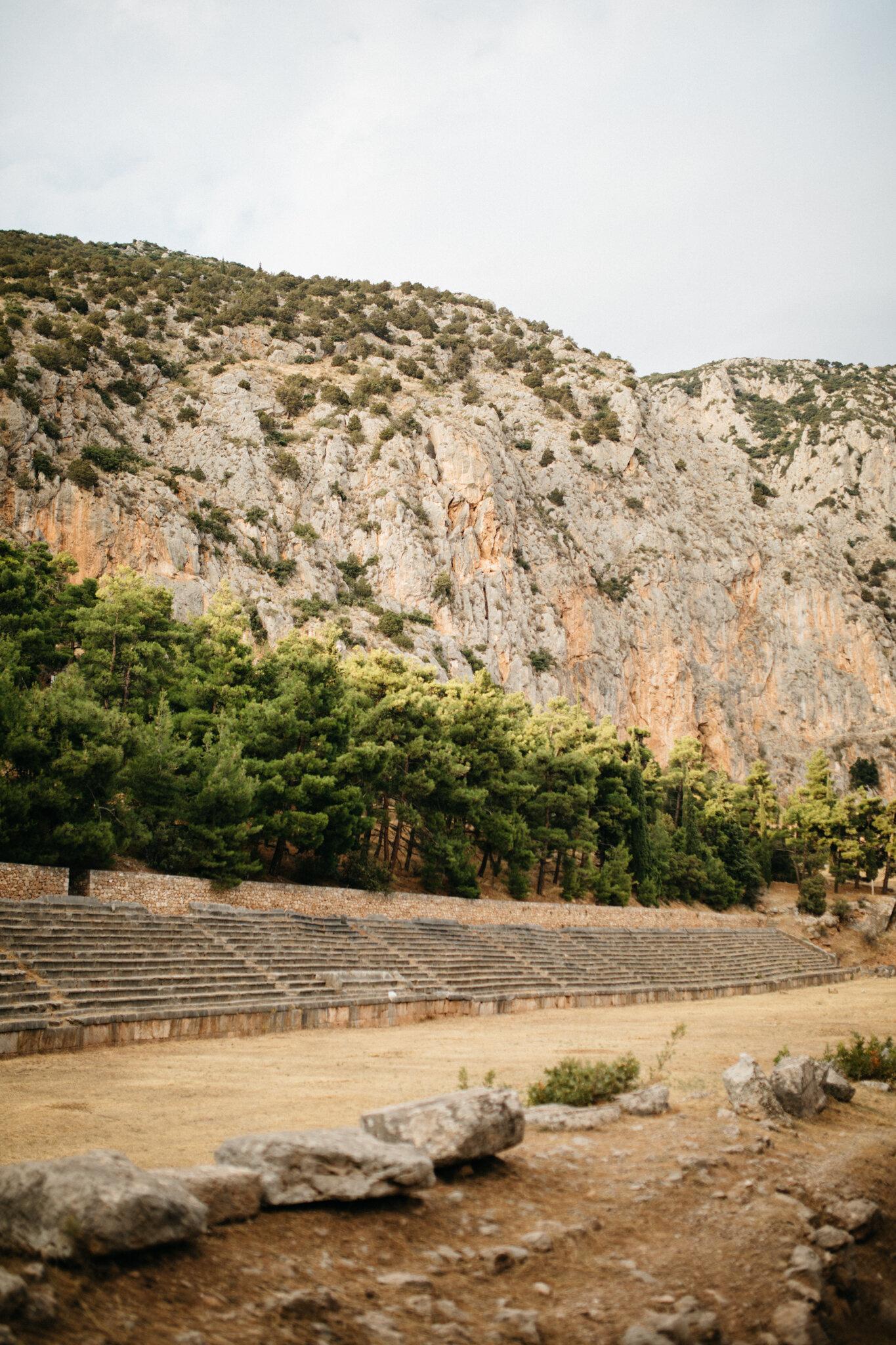 The ancient stadium at Delphi