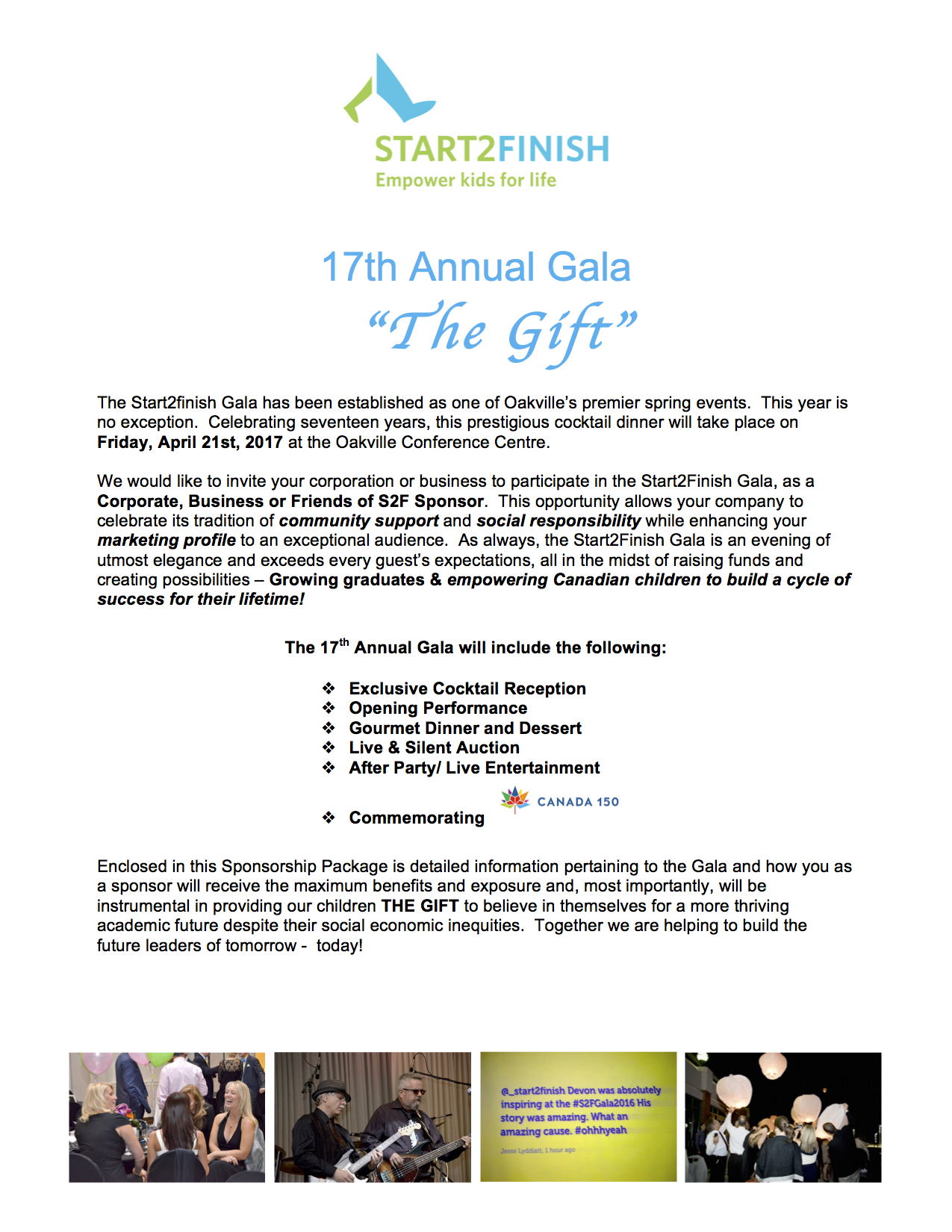 Sponsorship Package - S2F Gala 2017 PG 2
