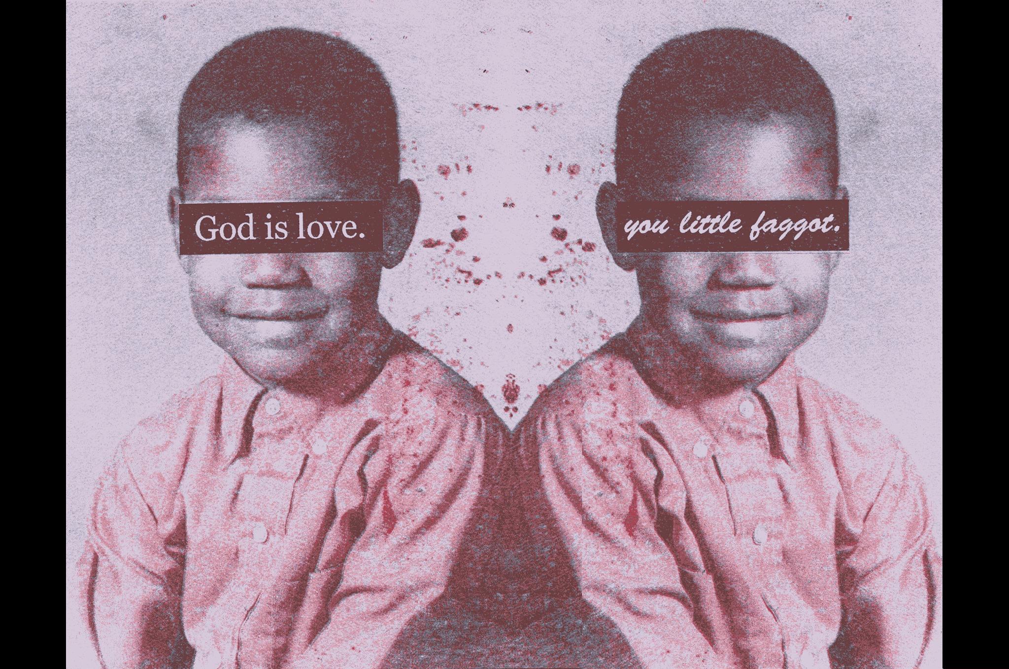 Image Steve LockeUntitled, (GOD IS LOVE/you little faggot), 2018
