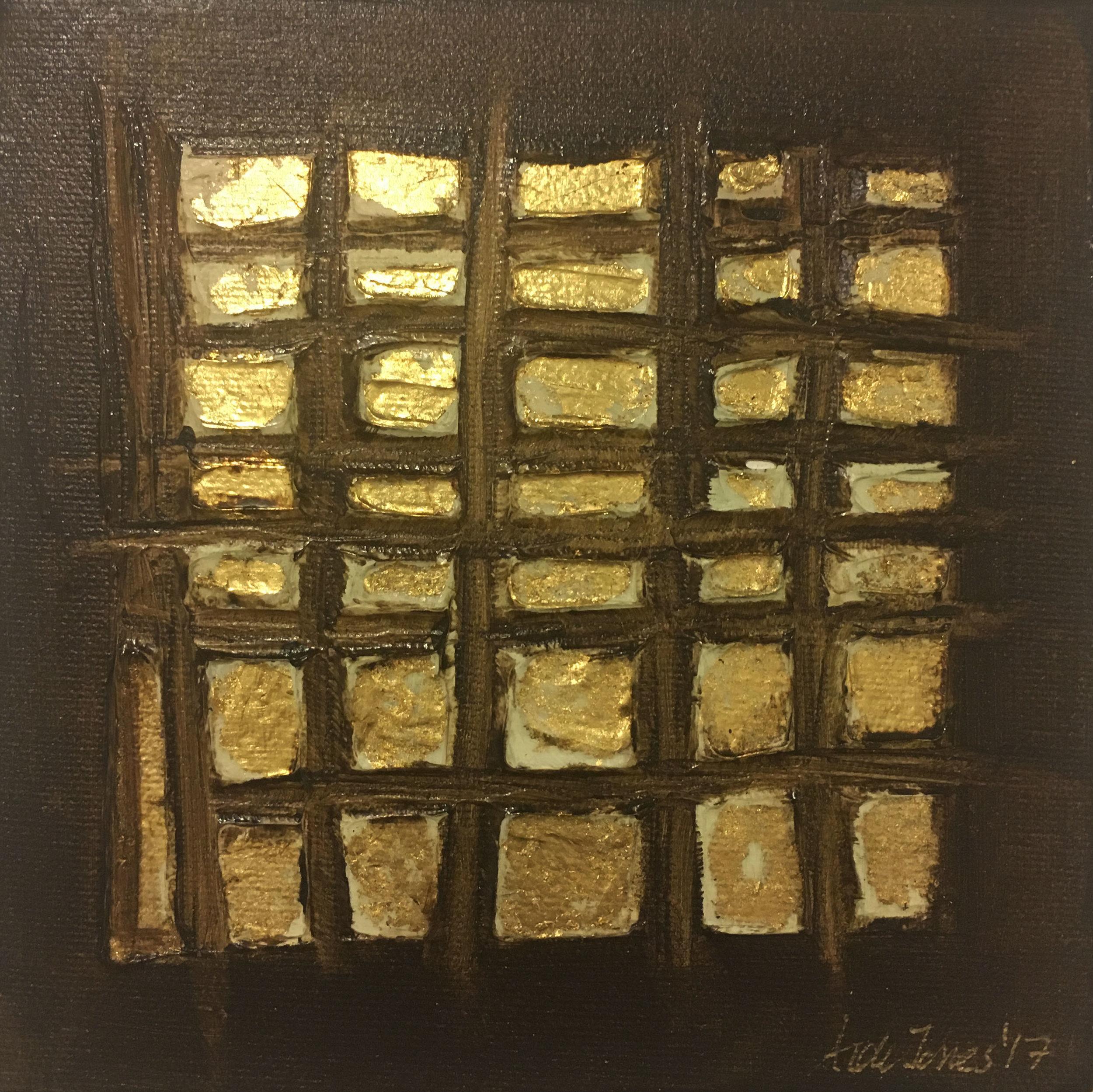 (SOLD) Brown Grid 4 x 4