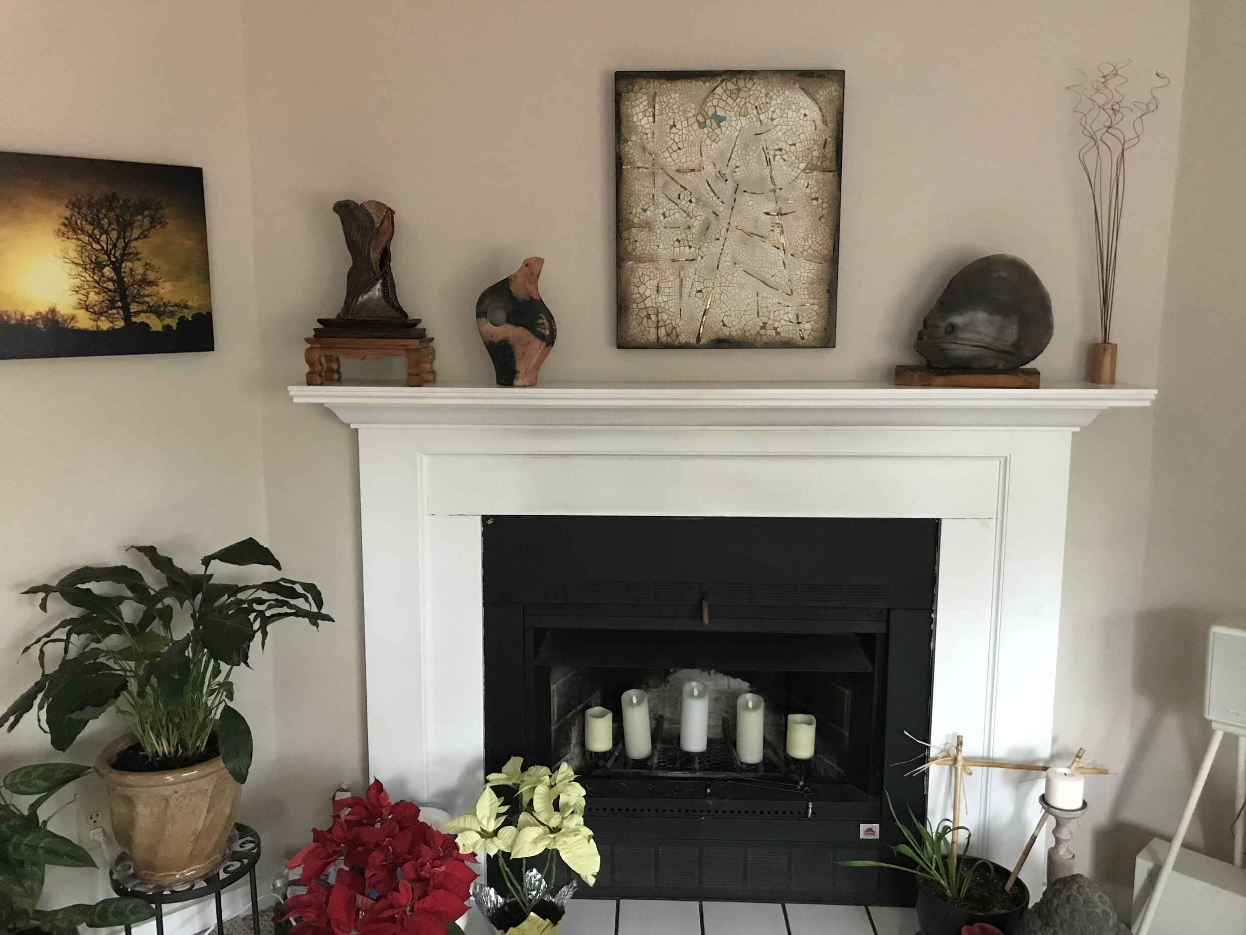 Plaster paining installed in a Cape Cod home