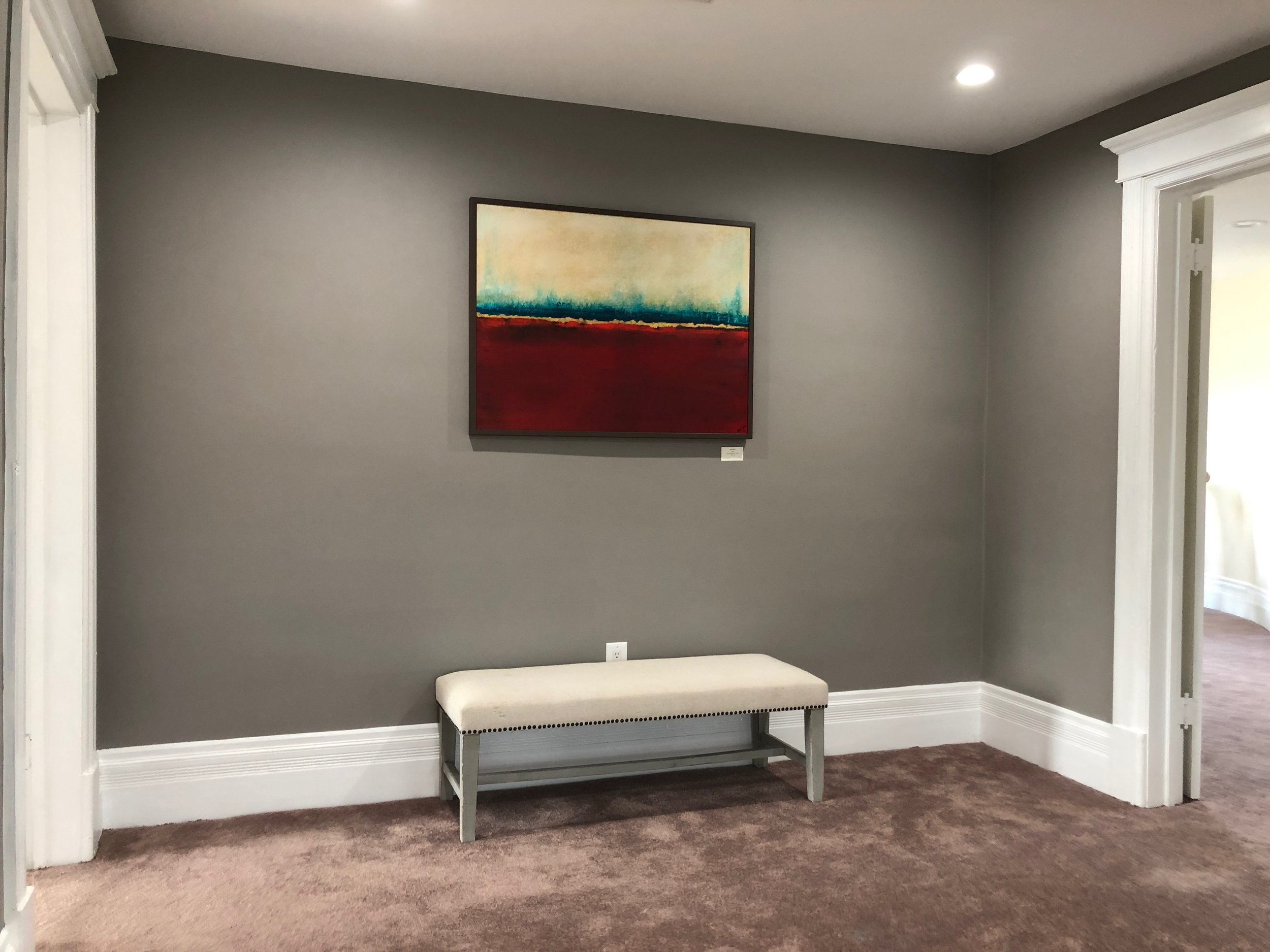 """Red Horizon 30"""" x 40"""" Installed in a Maplewood home"""