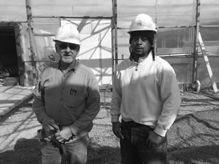 Rodger Sensabaugh, our class A CDL driver, and Dominic Morris who recently graduated from DEI's GO Electric Program.