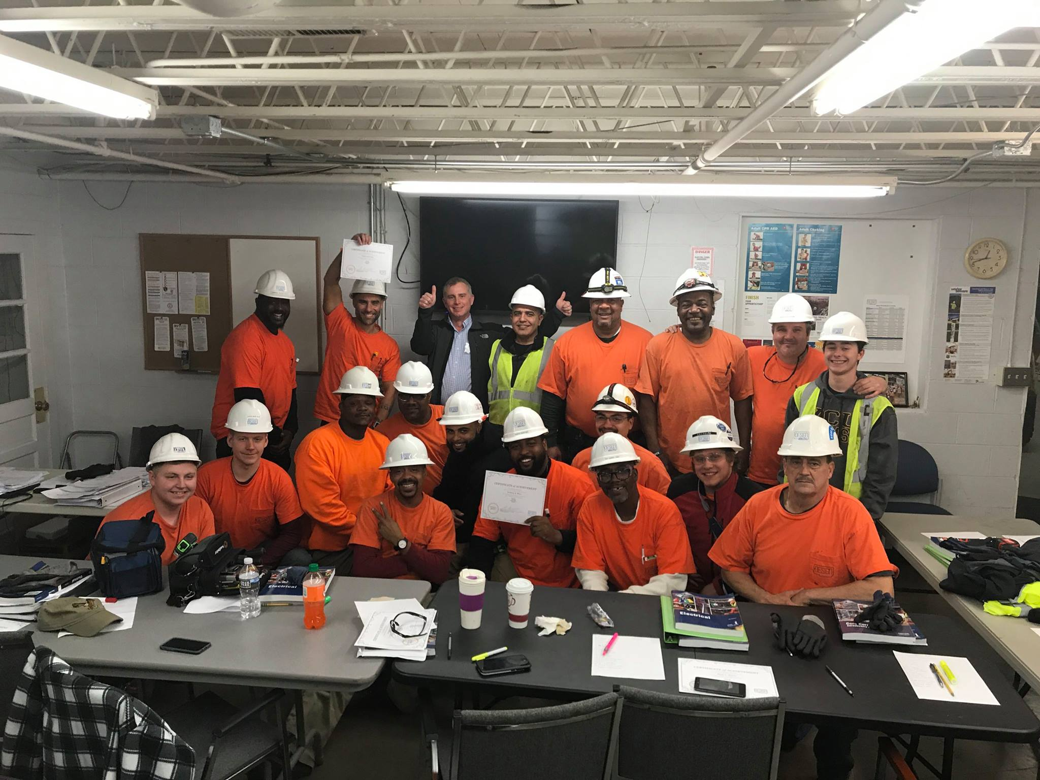 ELIP Grads ready for a new career as electricians. Congratulations! This group will go far! -