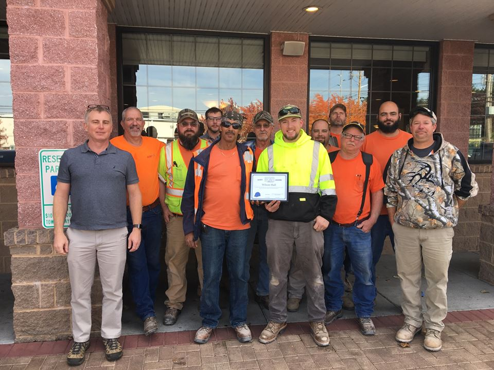 Congratulations to our JMU Wilson Hall crew for winning the October Safety Incentive Award. Nice lunch at the Wood Grill Buffet! -