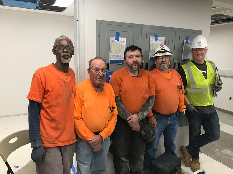 The best part about Design Electric is our experienced workforce of skilled electricians. Thank you all for your hard work. -