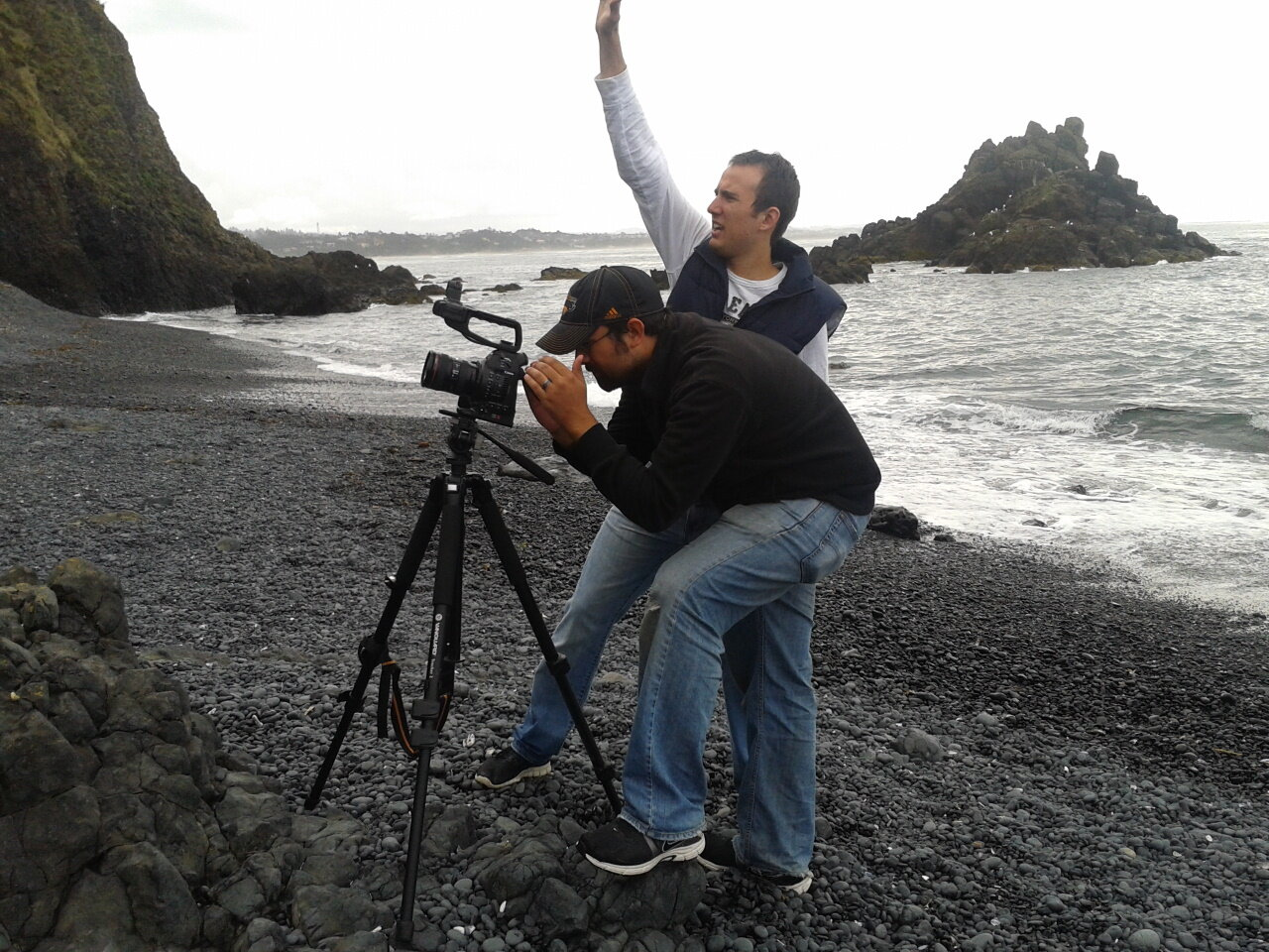 The brothers directing their short film The Lighthouse. - March, 2013