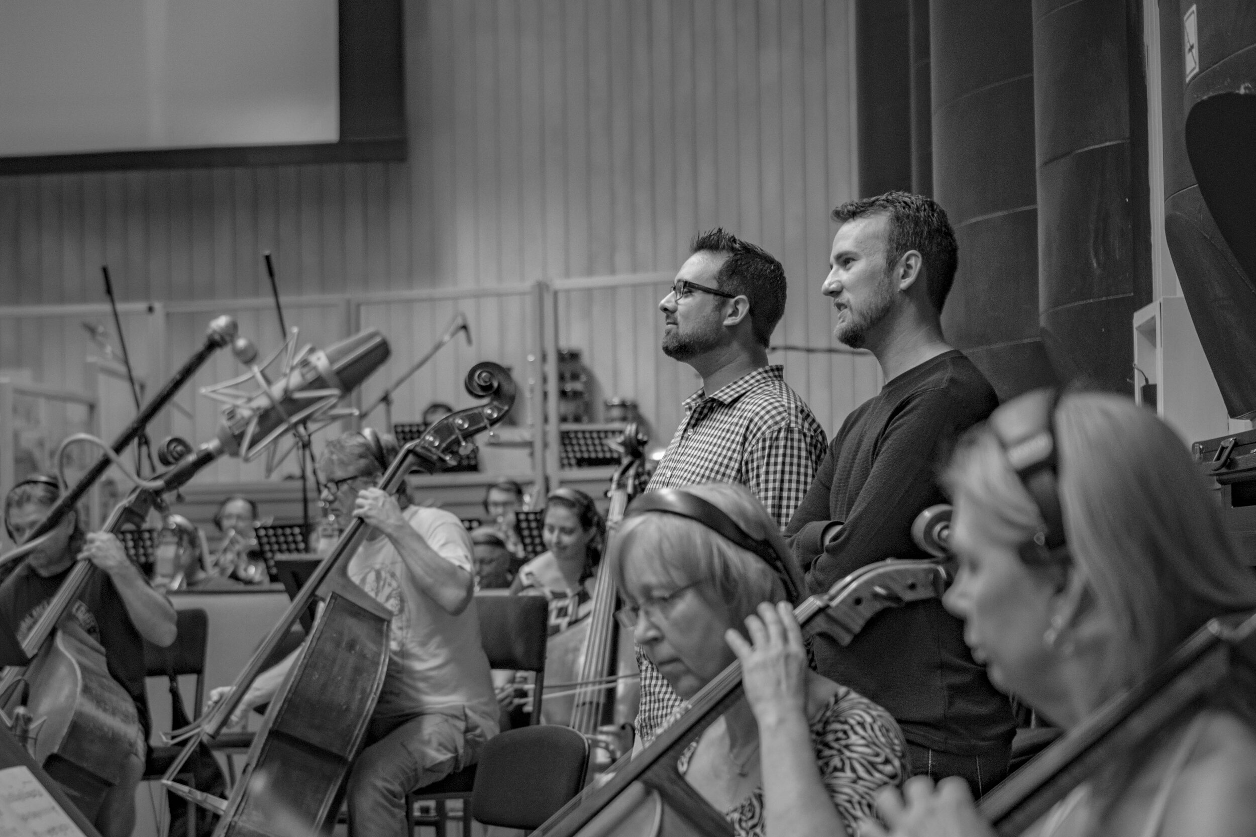 Listening to the Prague Orchestra perform the score for HERO. - August, 2017