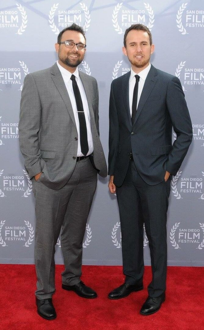 The Garcia Brothers at the San Diego Film Festival, where HERO won Best Dramatic Short. - October, 2018