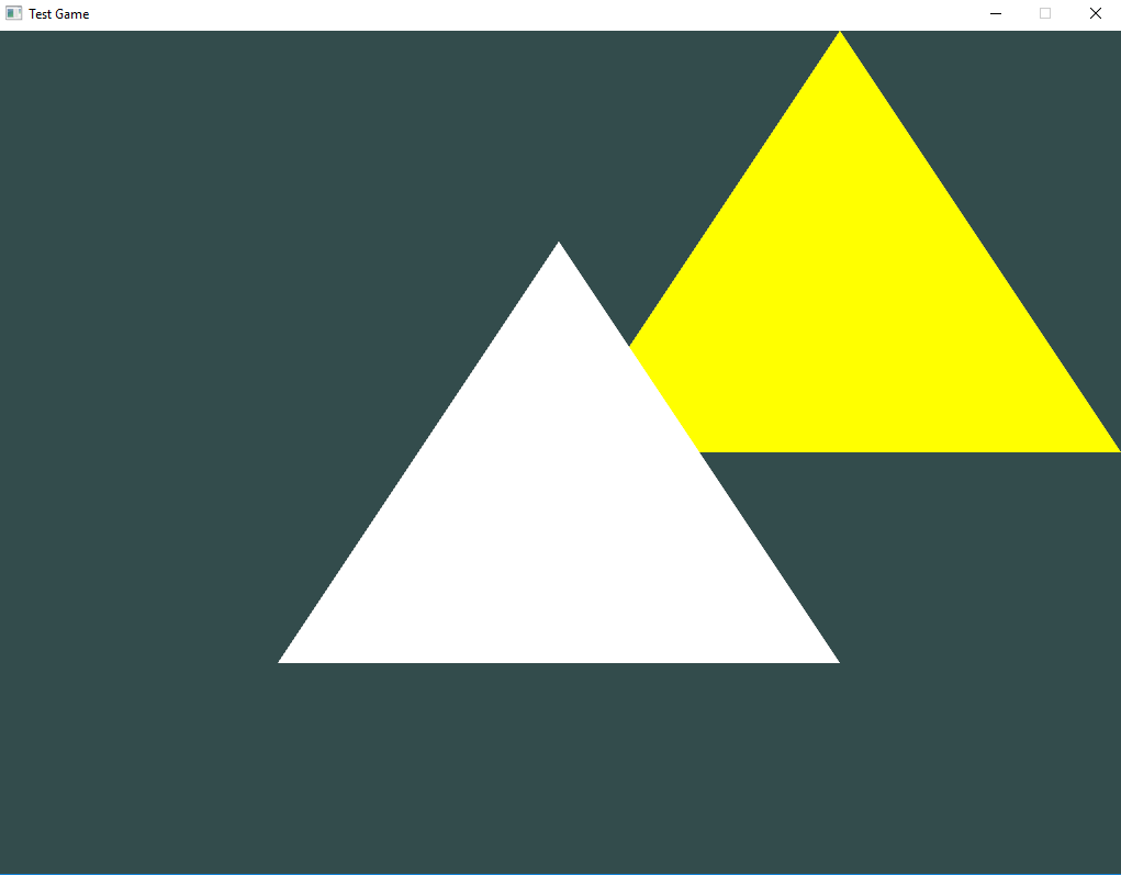 The first two triangles in OpenGL