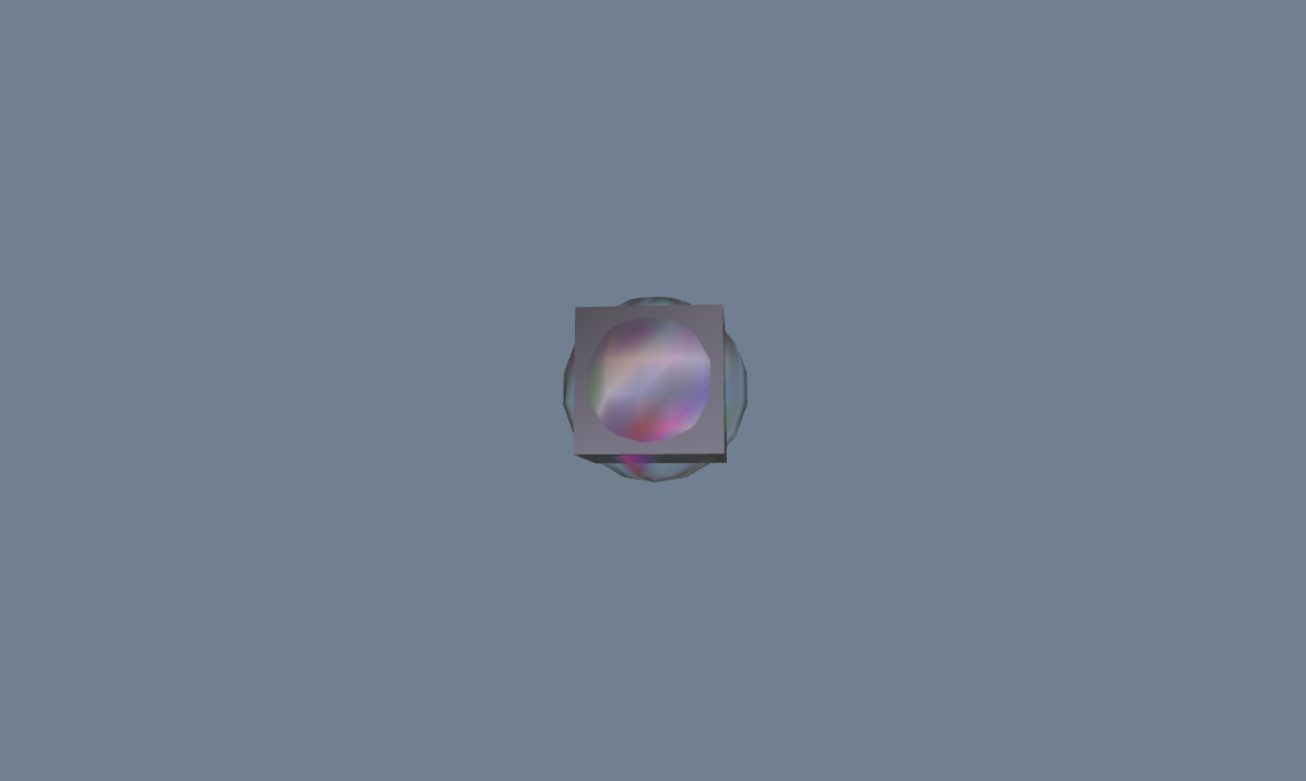 Enabled default lighting in DirectX and generated random colors for the sphere. Also added a cube