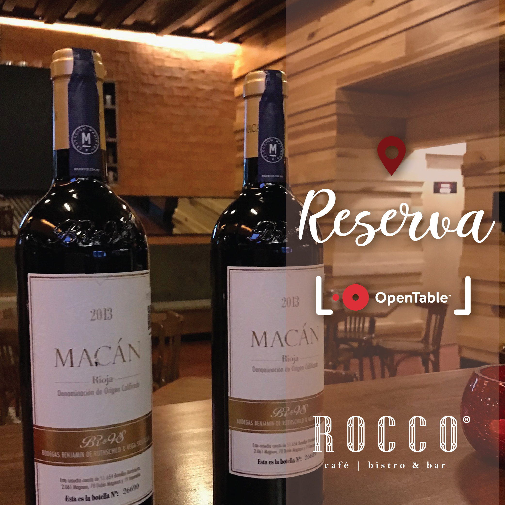 Reserva en OpenTable   Es muy fácil, no te quedes sin disfrutar la experiencia de Rocco.