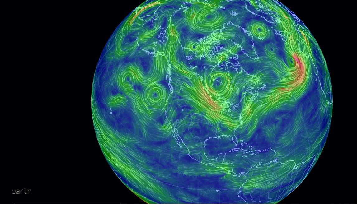 Earth wind map -
