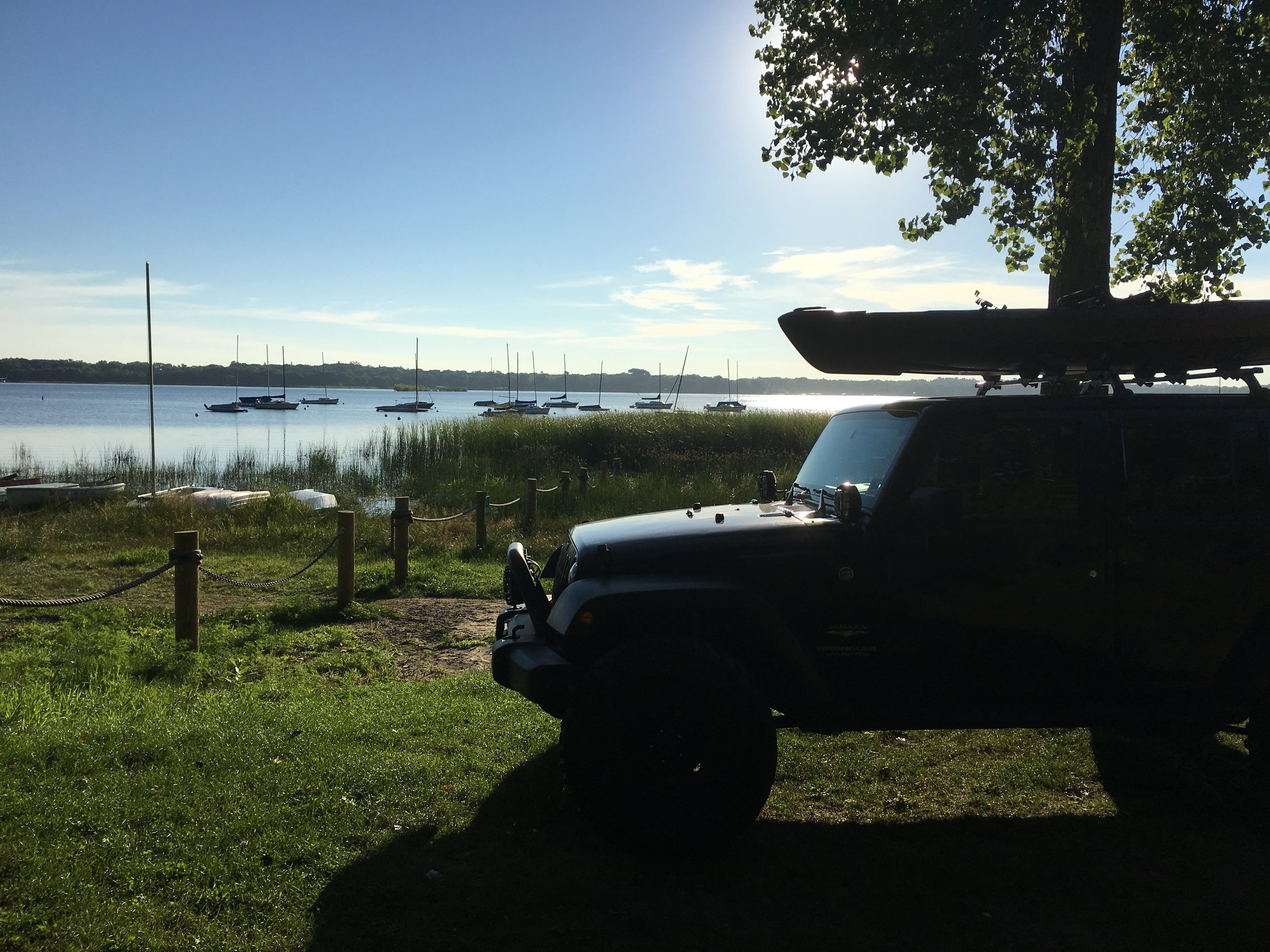 Launching at Matoska Park, just a few minutes from the office.
