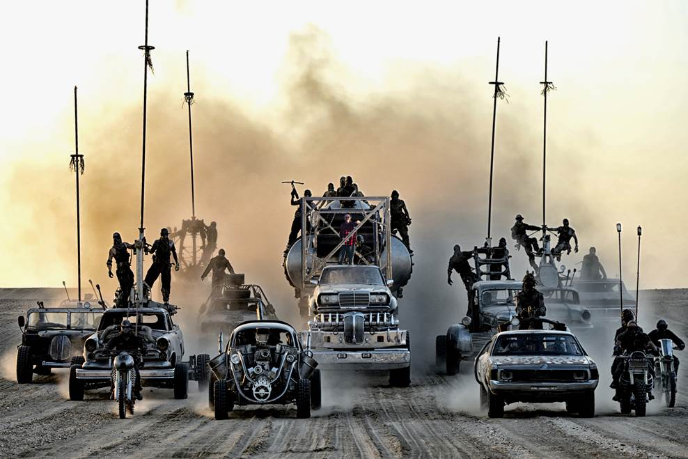 Ok, this picture isn't real... but Monica did do an amazing job photoshopping Adam and the Shanty into this epic Mad Max scene! - Original photo credit to Warner Brothers.