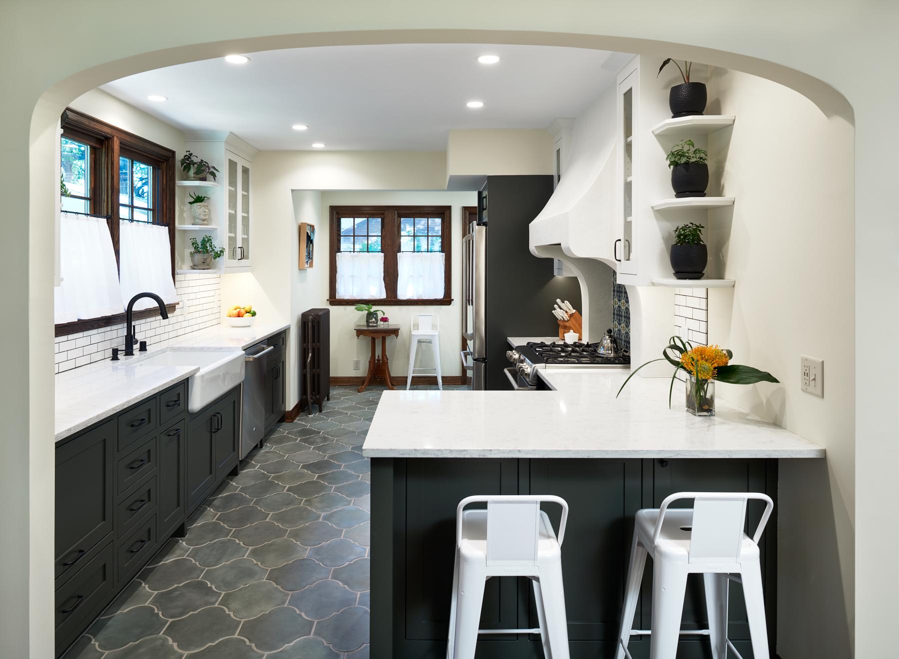 NewStudio Architecture Mediterranean-style kitchen renovation