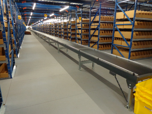 Advanced infrastructure inside the URBN Internet Fulfillment Center, designed in collaboration with NewStudio Architecture