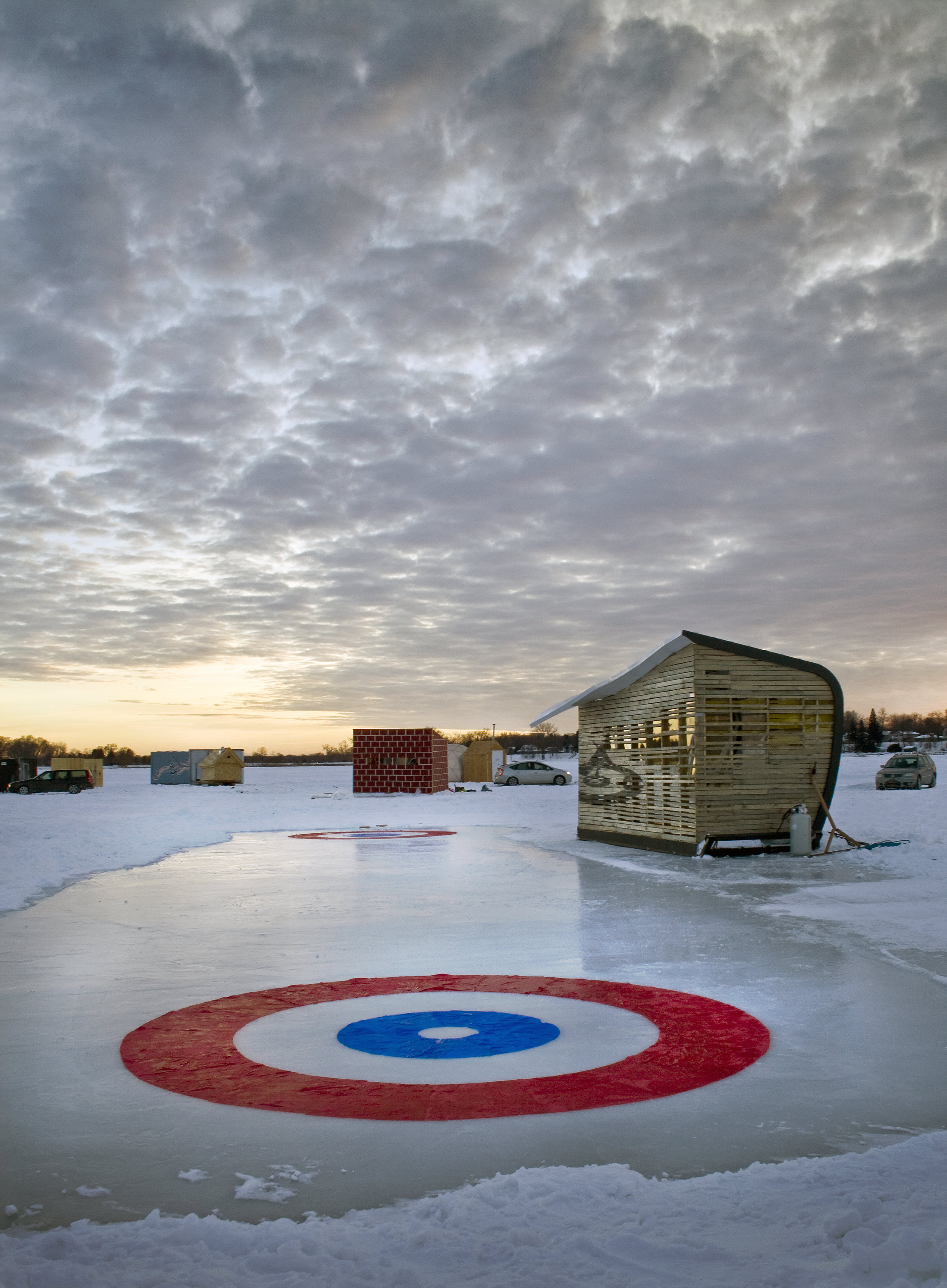 NewStudio Architecture chose a curling theme for its art shanty project