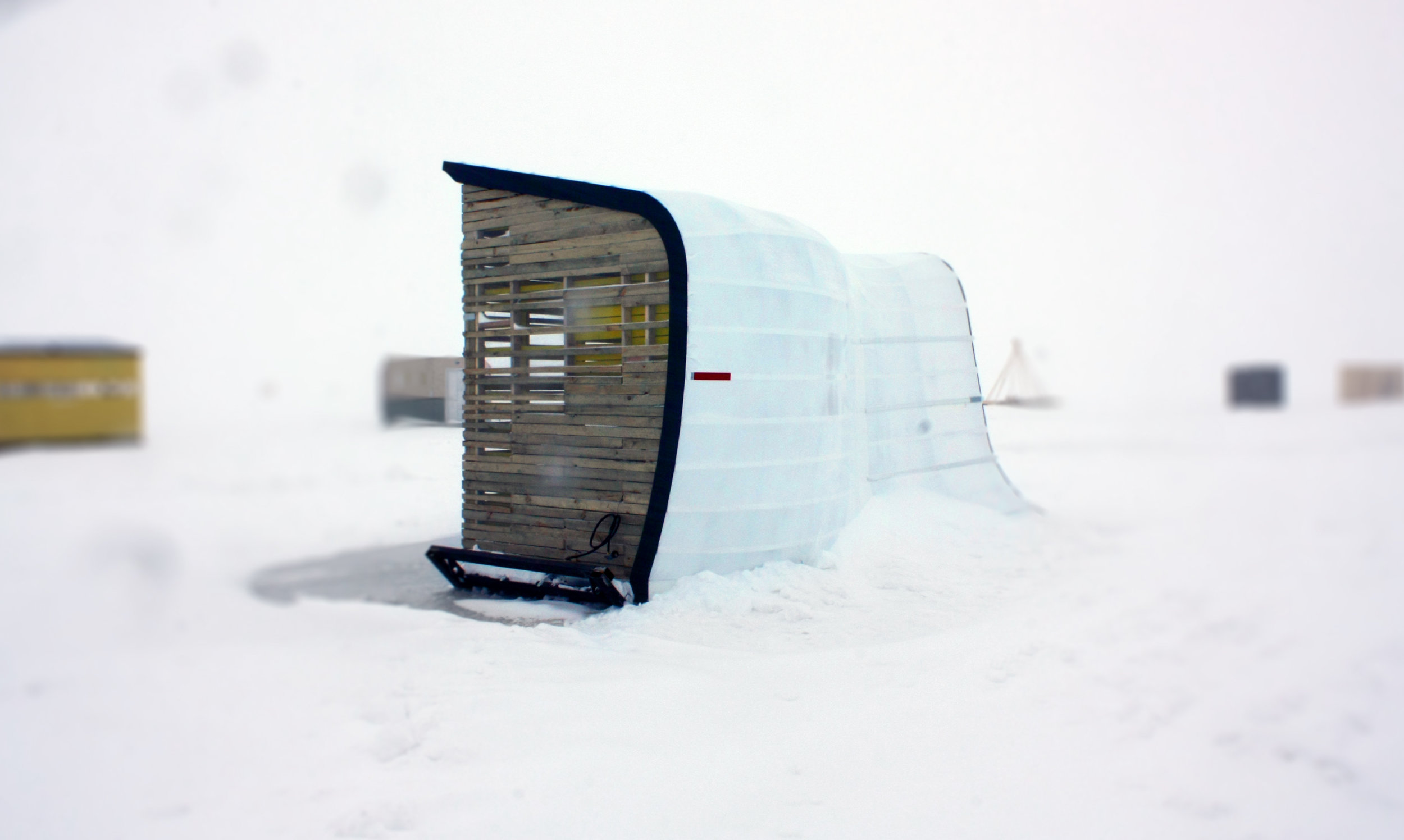 Snowdrift-inspired art shanty designed by NewStudio Architecture