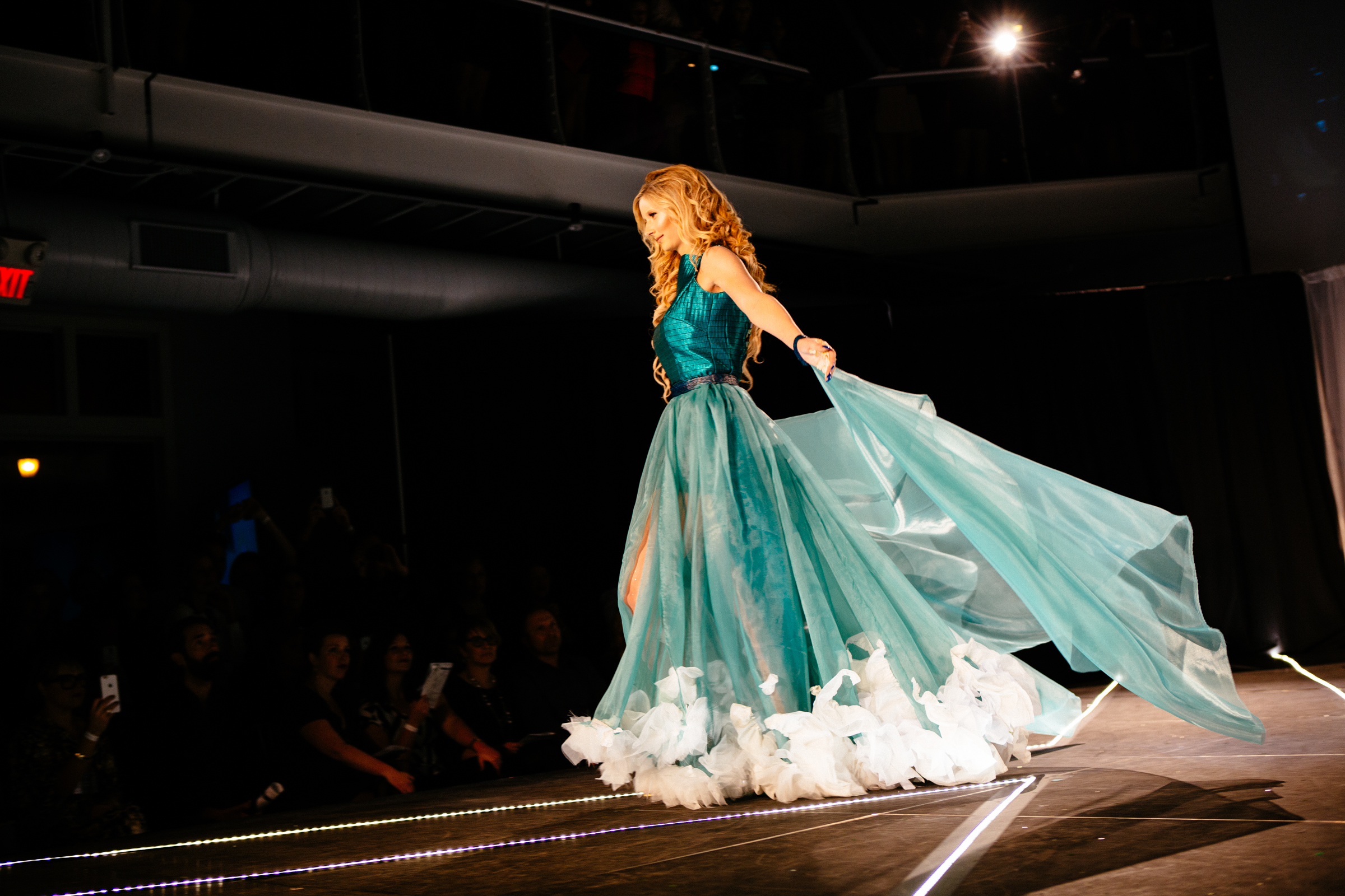 White Bear Lake's color and movement inspired NewStudio Architecture's entry in the IIDA Fusion + Fashion fundraiser