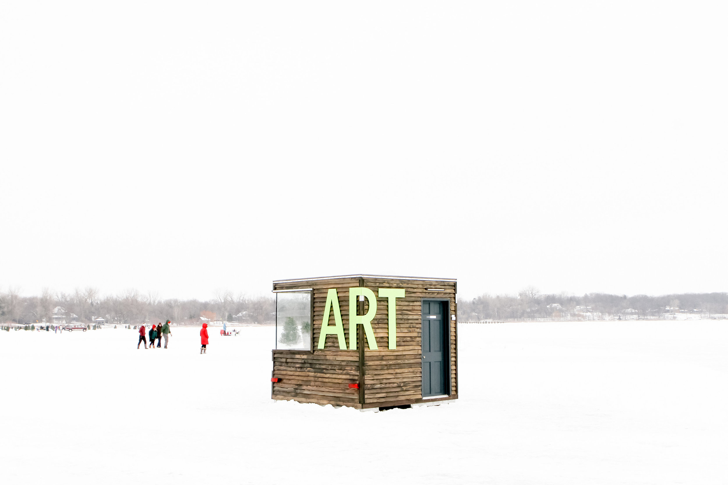 NewStudio Architecture's art shanty let visitors interact with artists inside the compact studio