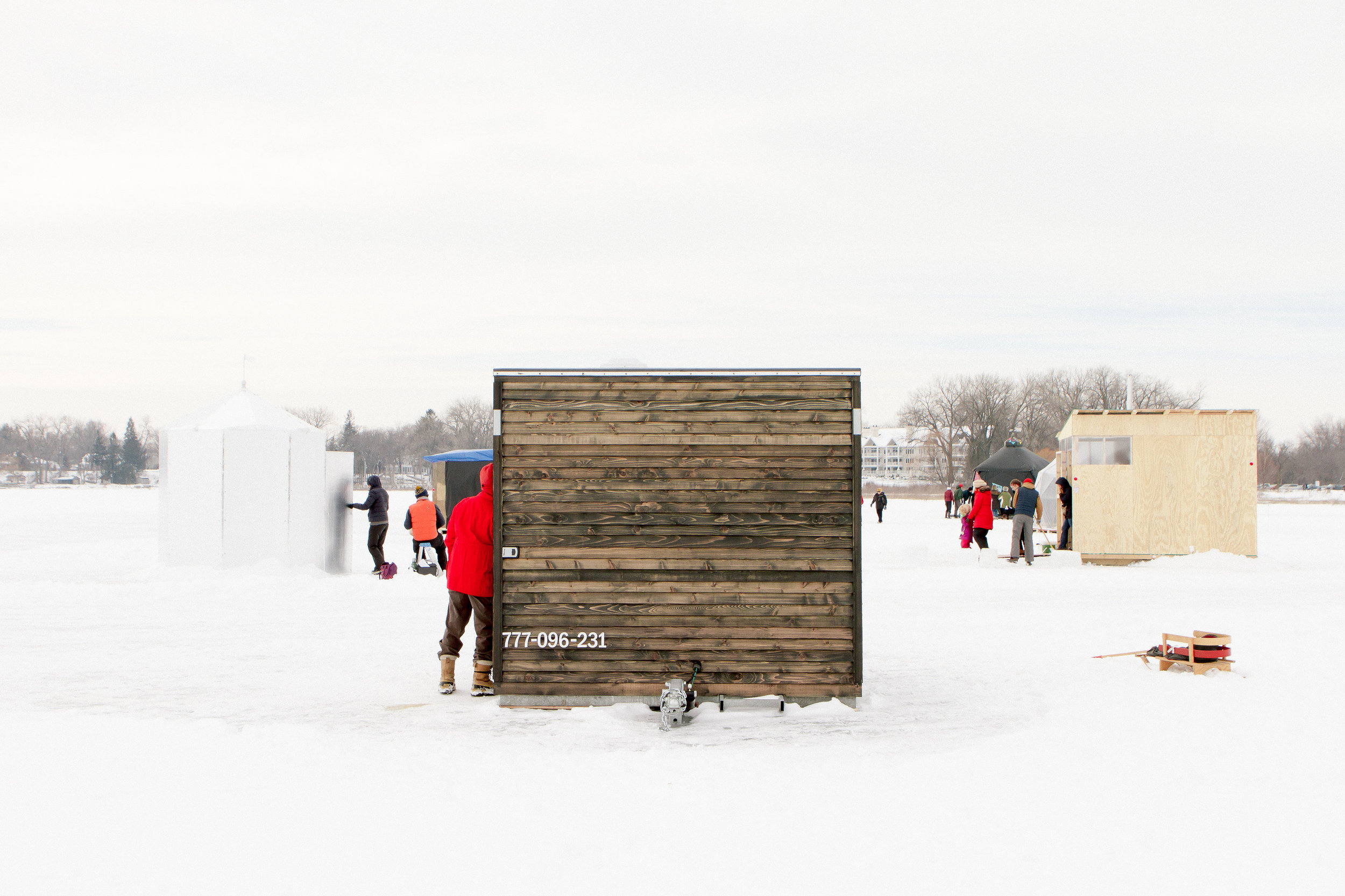 NewStudio Architecture designed its art shanty on skids to be portable