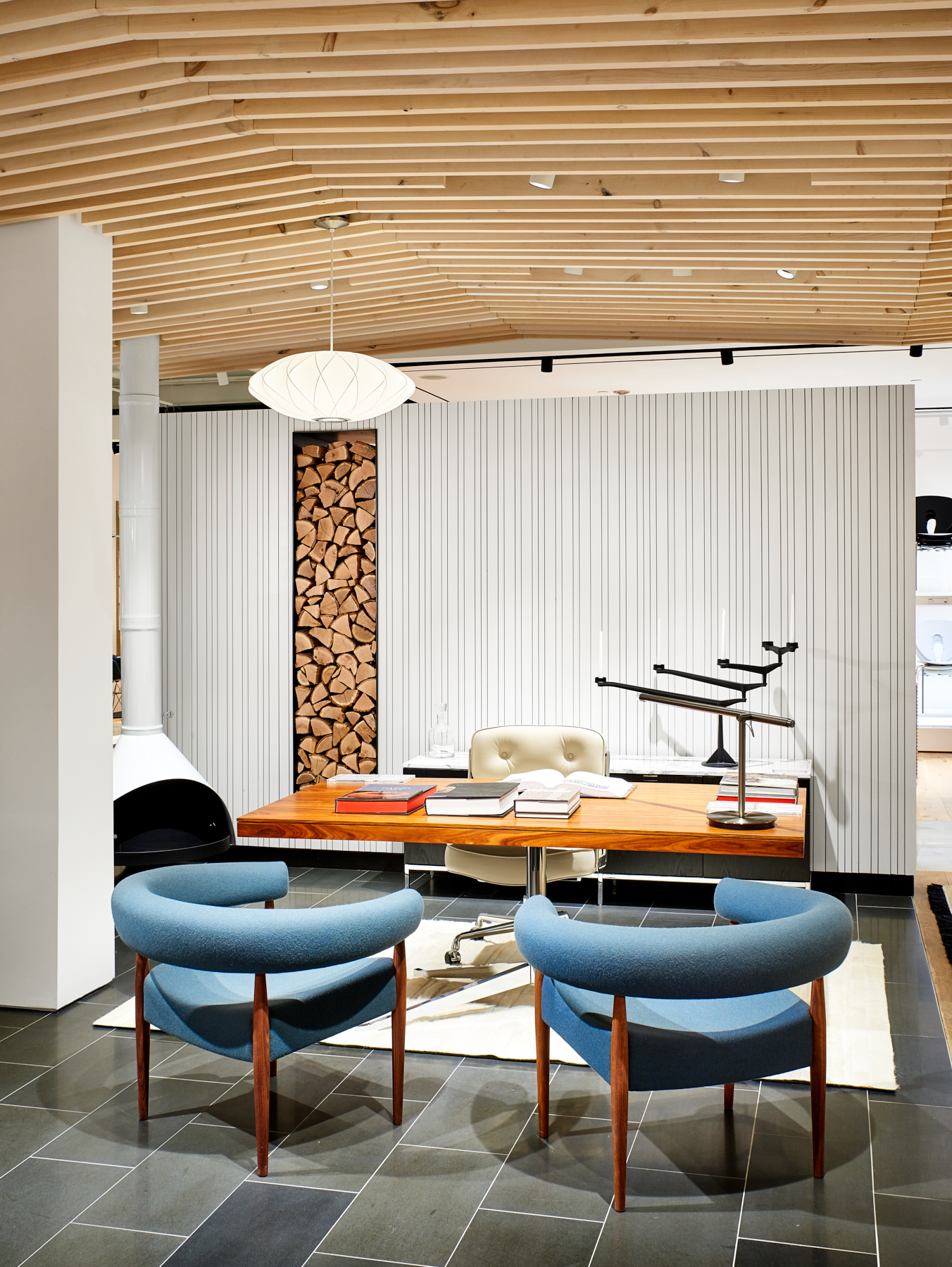Interior workspace created by NewStudio Architecture for Design Within Reach in Edina, Minnesota