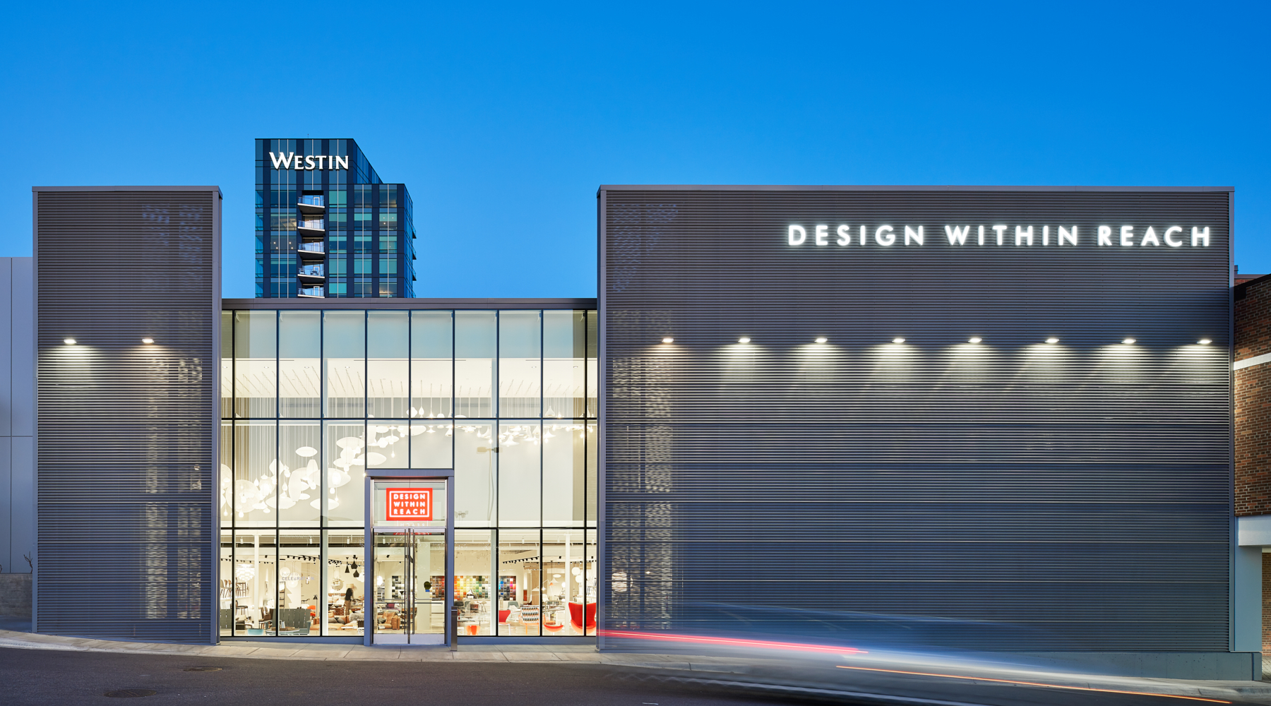 Design Within Reach showroom exterior view; designed in collaboration with NewStudio Architecture