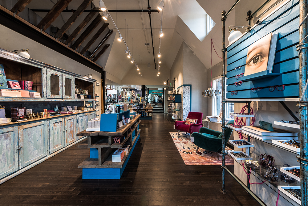 Anthropologie & Co. brand store interior, created in collaboration with NewStudio Architecture