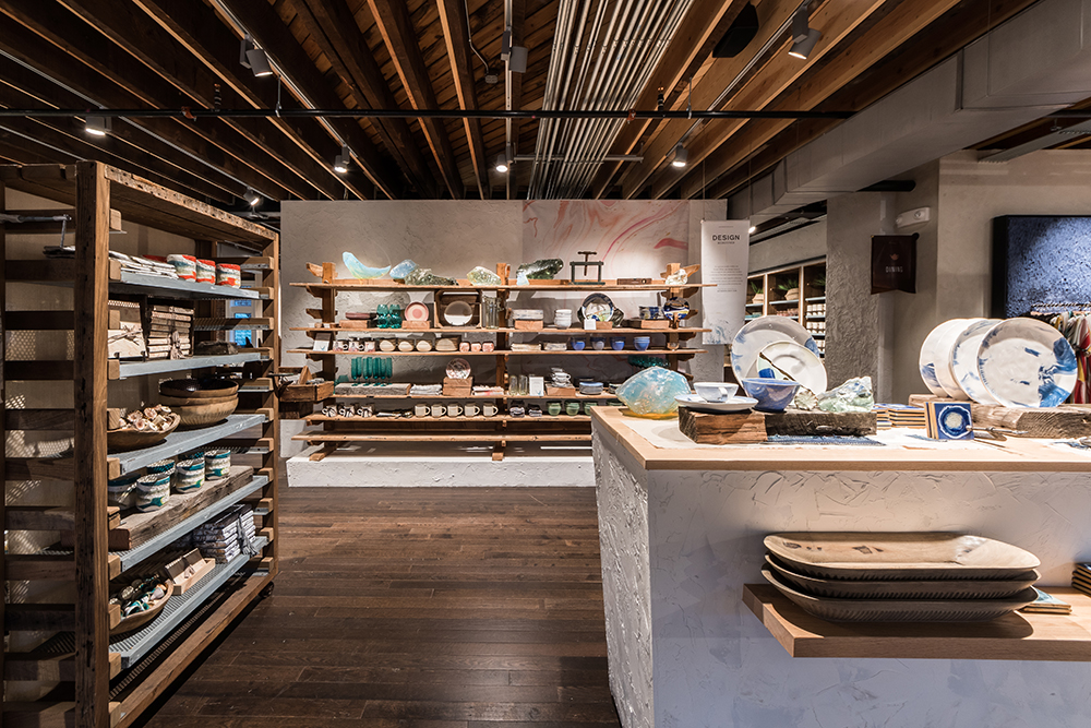 NewStudio Architecture created open areas for an immersive shopping experience at Anthropologie & Co. at Bedford Square