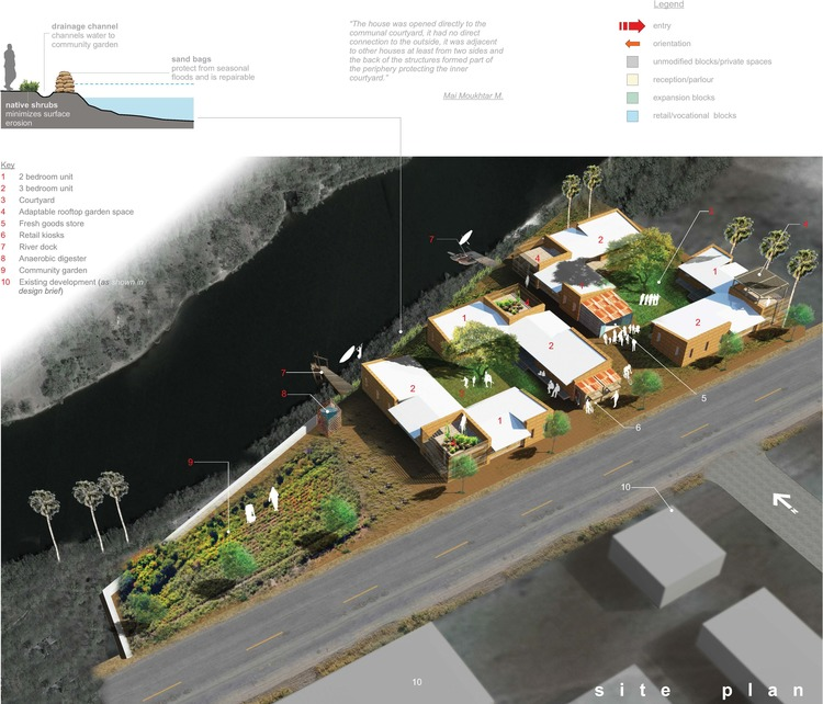 NewStudio Architecture created a courtyard home design for the urban poor in a charity contest