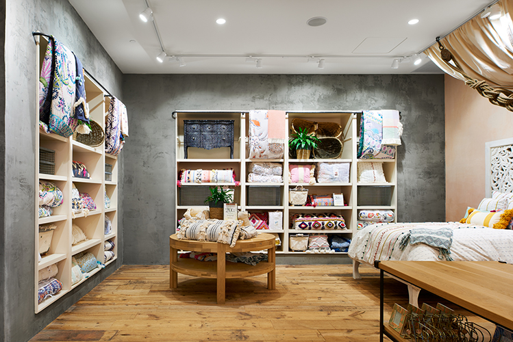 Cozy interior display area in Anthropologie at Mall of America, created in collaboration with NewStudio Architecture
