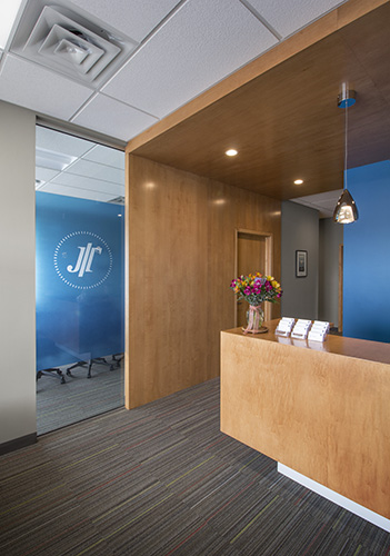 Interior lobby of Johnson Turner legal offices designed by NewStudio Architecture