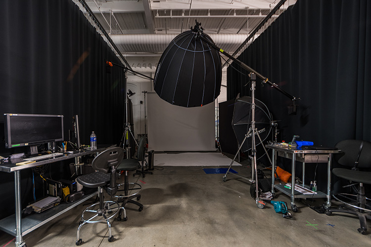 Flexible space within the URBN Headquarters can become a photo studio; designed in collaboration with NewStudio Architecture