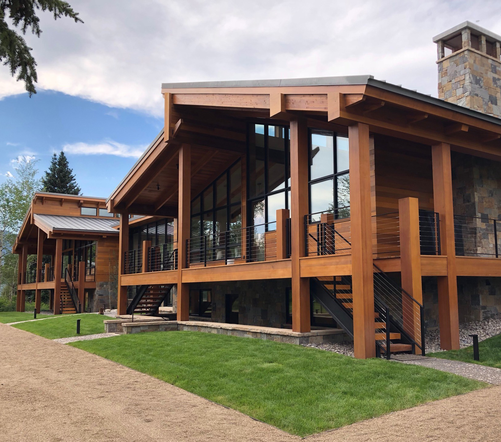 Exterior view of Jackson Hole Ranch by NewStudio Architecture.