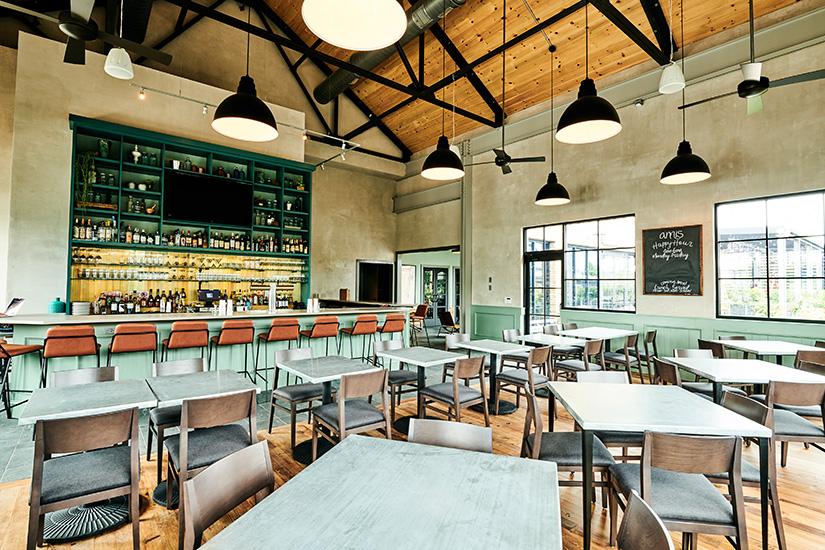 Dining space at Devon Yard's immersive lifestyle campus