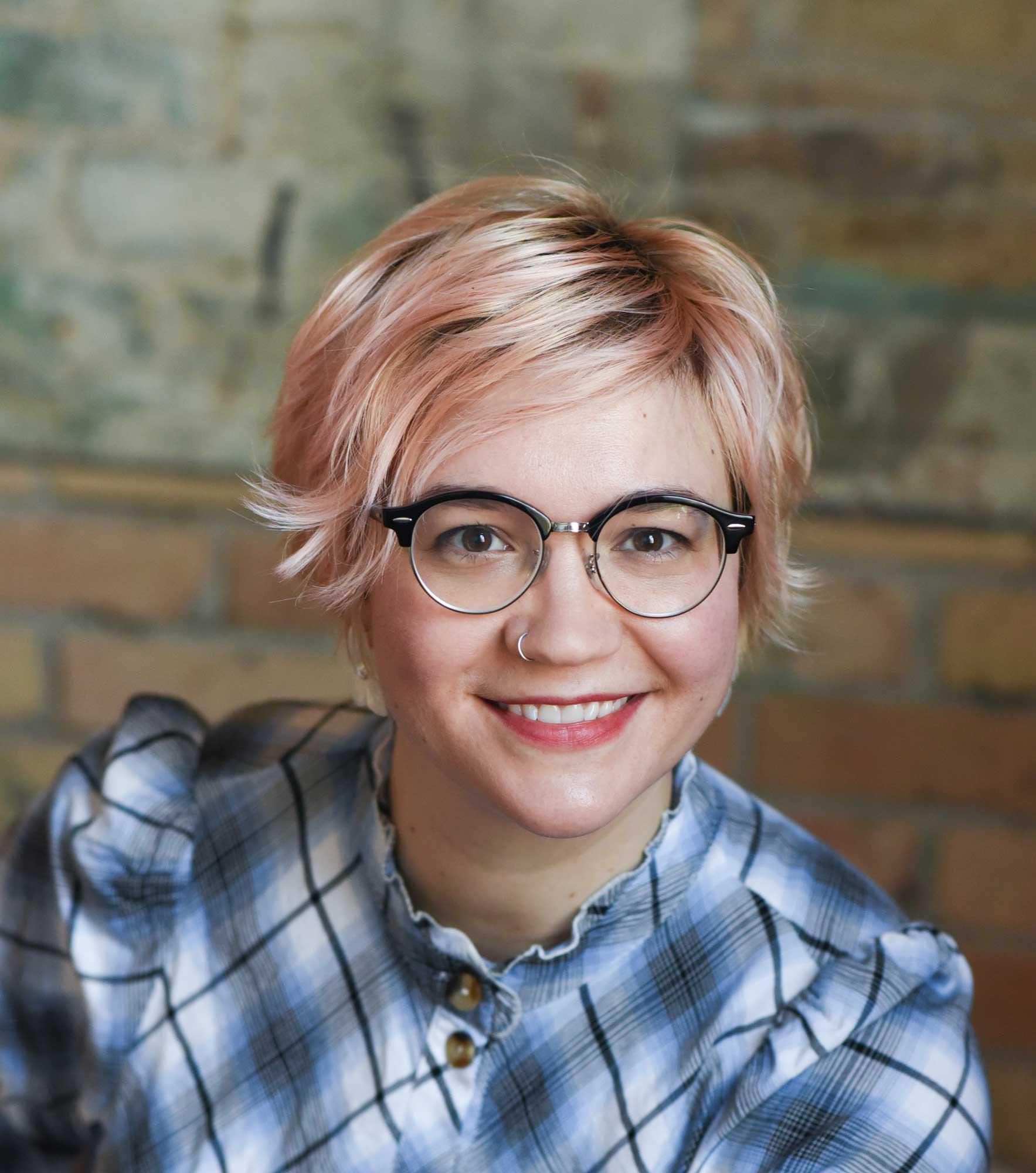 Headshot of fiber artist Kristina Fjellman.