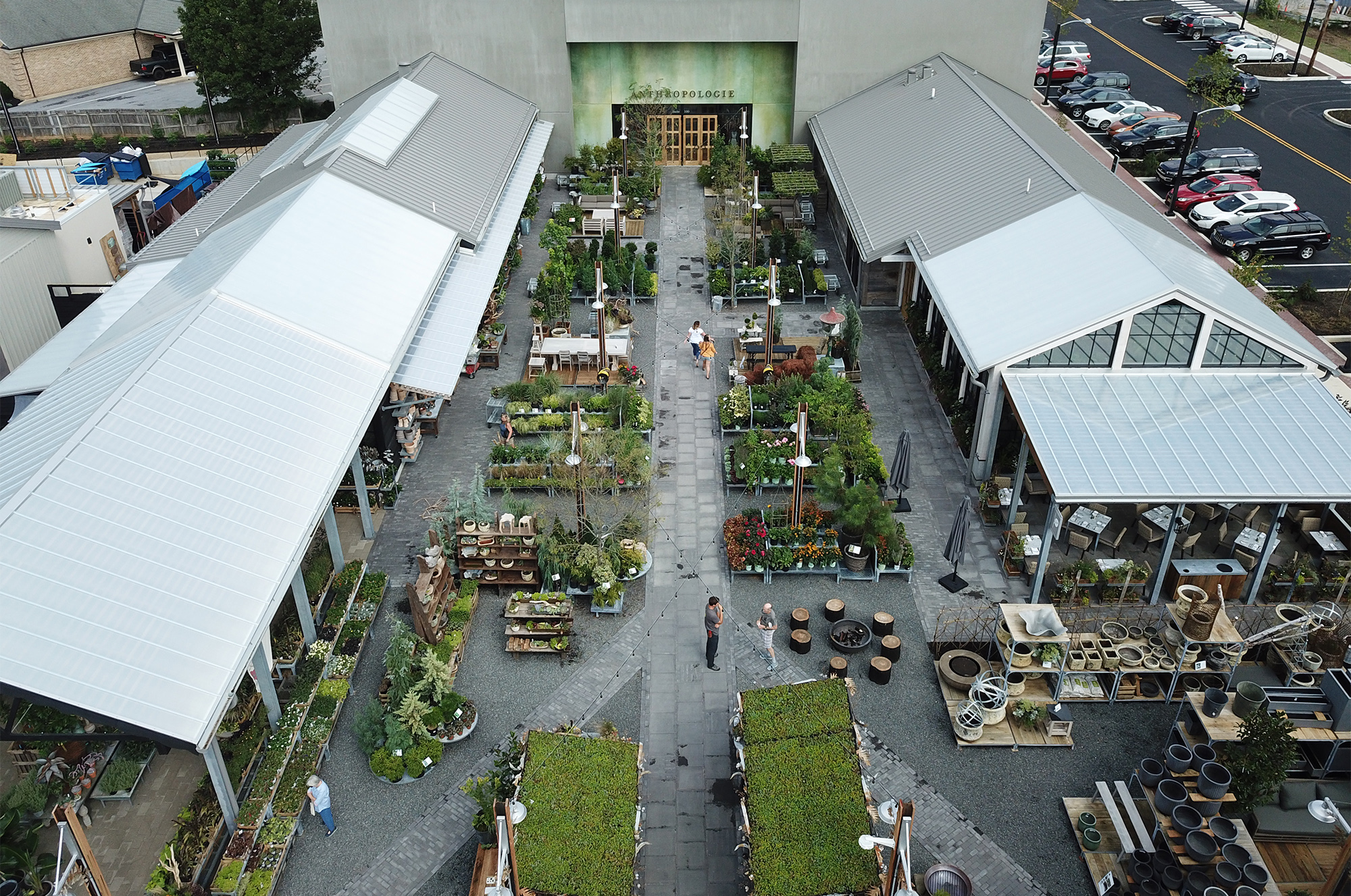 Aerial view of Devon Yard lifestyle center.