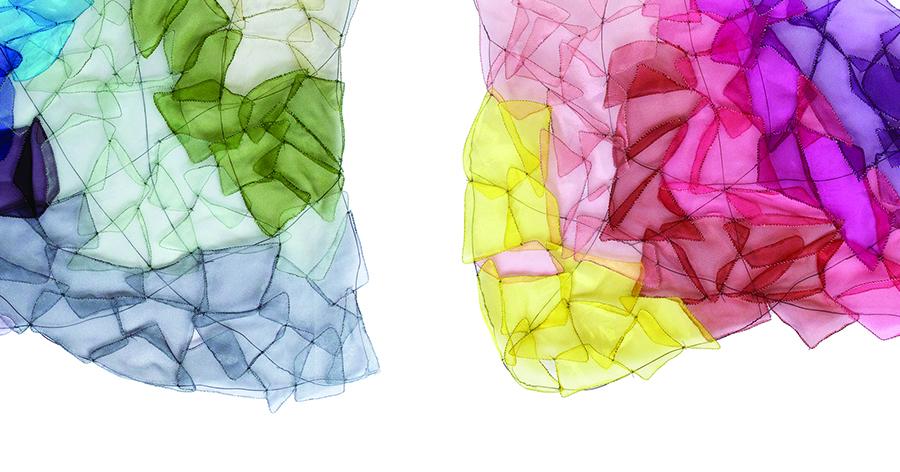 Sculptural fiber art by Kristina Fjellman.