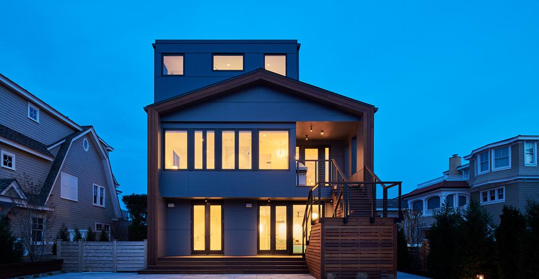 NewStudio Architecture's Avalon Shorefront retreat features an open-concept floor plan.
