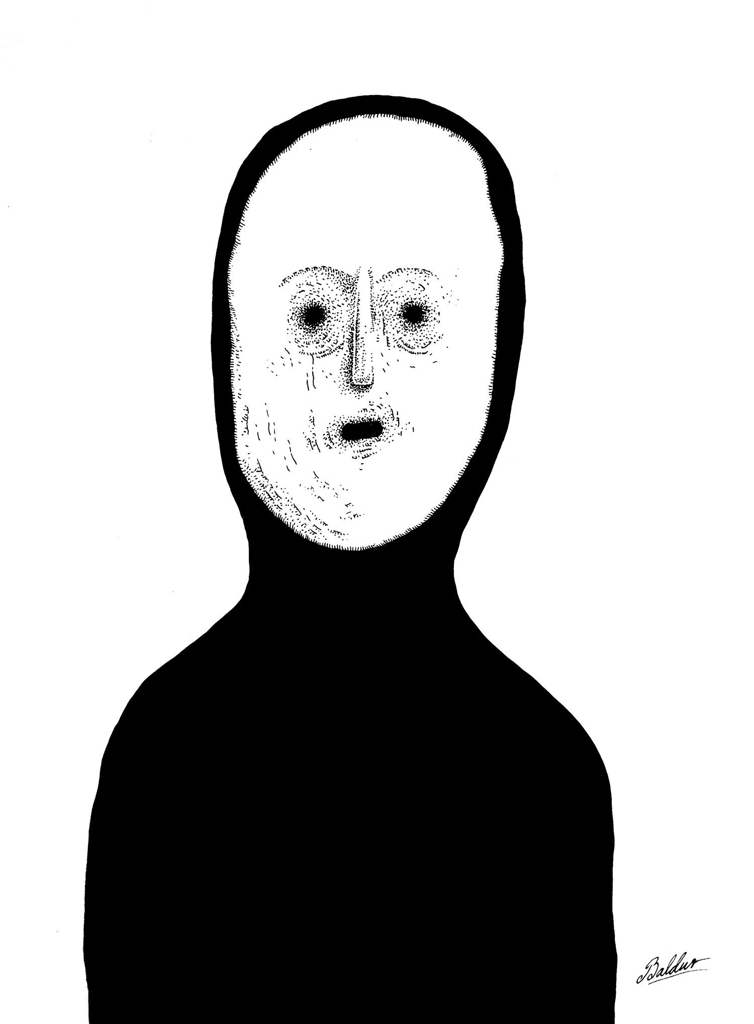 Dauðinn  Pen & Ink on Paper, 14x17 2016