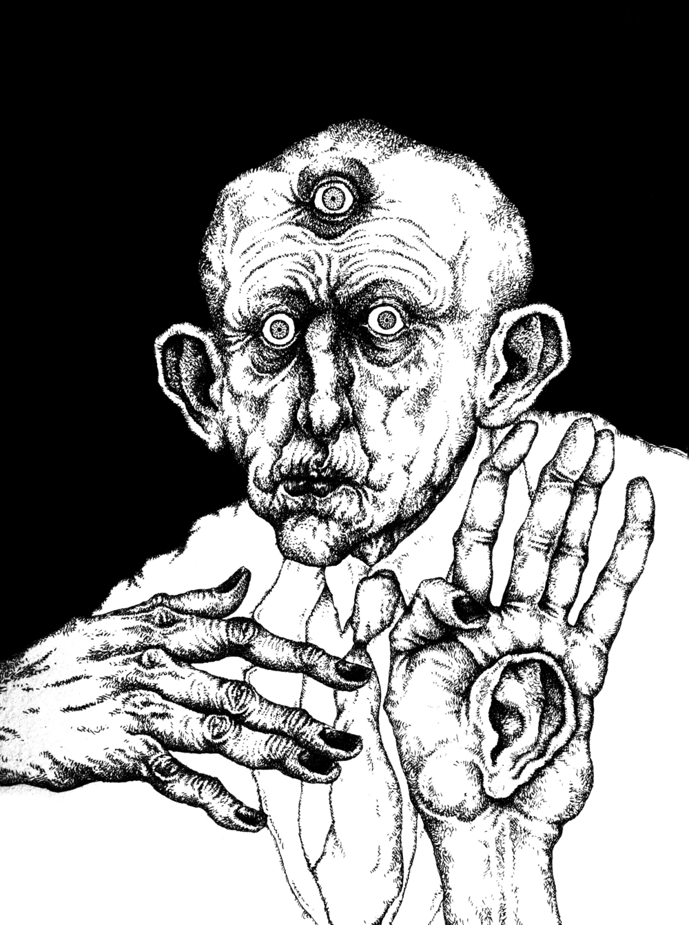 Cyclops  Pen & Ink on Paper, 11x14 2013