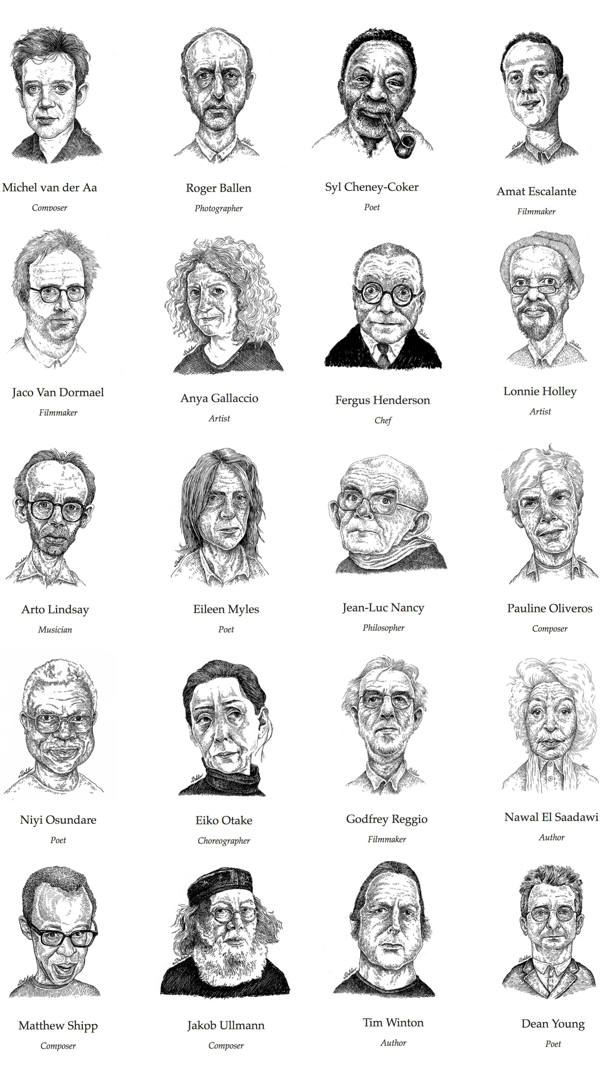 Portraits for  Dialoguetalk.org , a digital encyclopedia and archive of the thoughts, ideas, and perspectives of extraordinary global figures from across the arts and humanities.