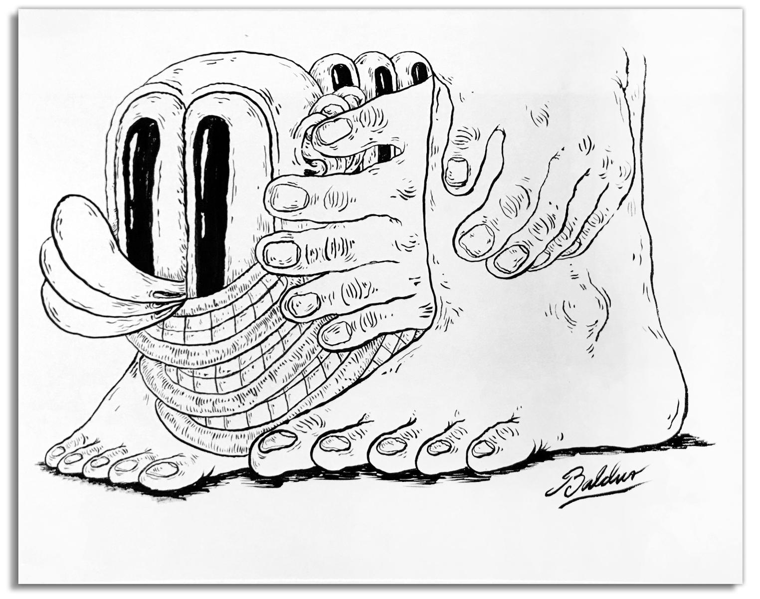 Metamorphosis  Pen & Ink on paper, 14x11 2018