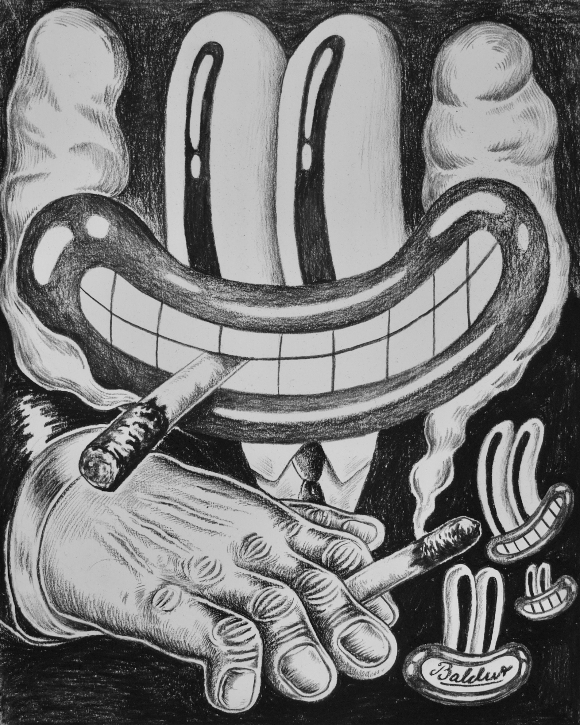 Smoke Gets In Your Eyes  Charcoal on paper, 11x14 2018