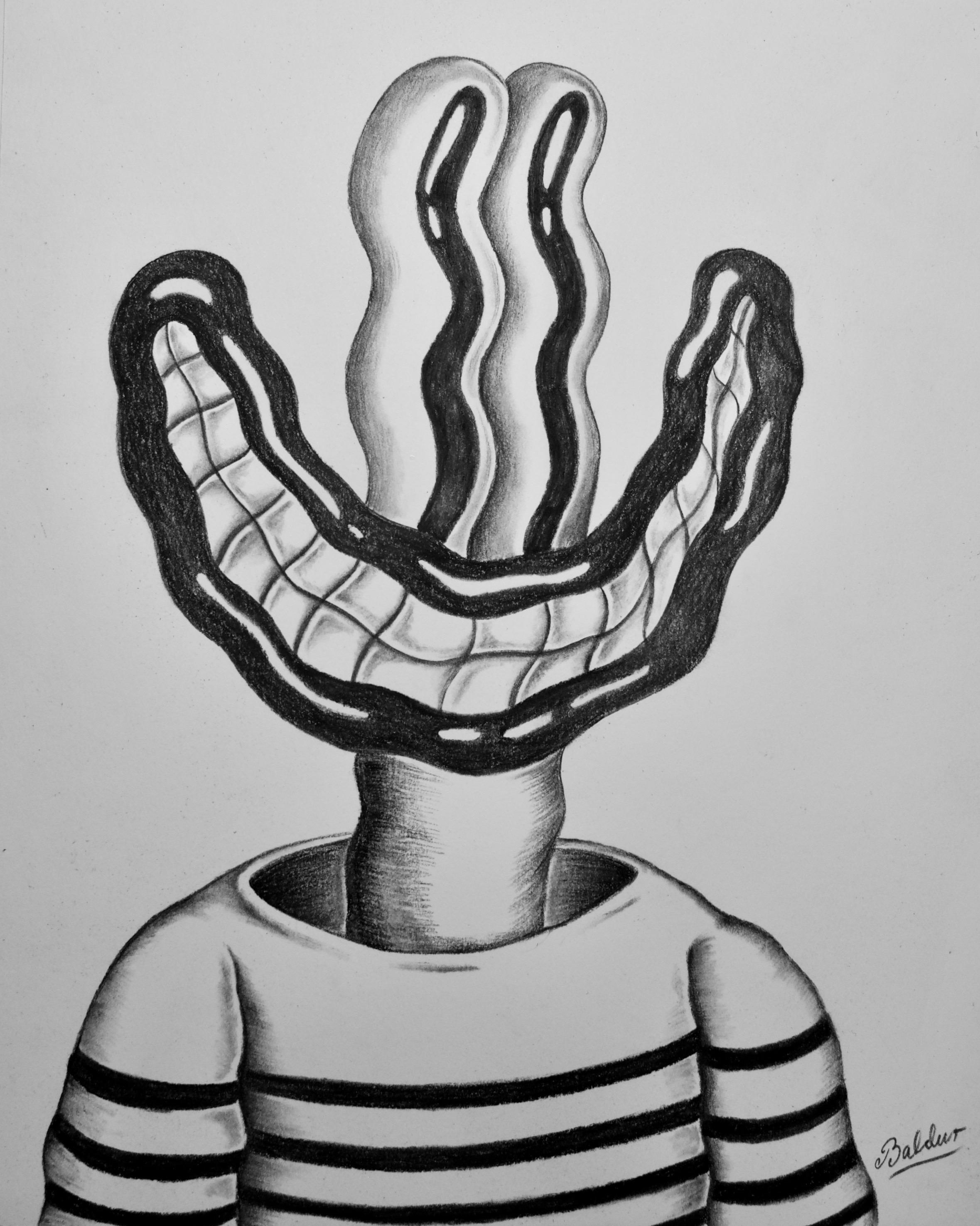 Self Portrait  Charcoal on paper, 11x14 2018