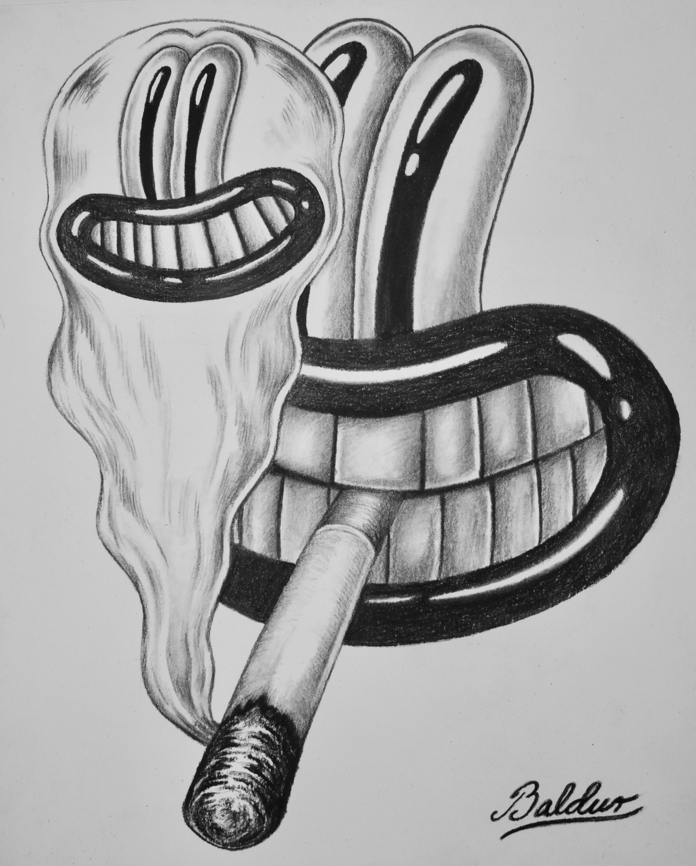 Spiritual Drawing  Charcoal on paper, 11x14 2018