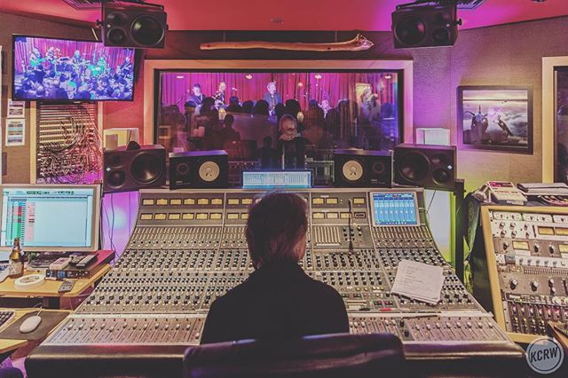@clearmountain at last nights @apogeedigital and @kcrw in studio session with @franz_ferdinand