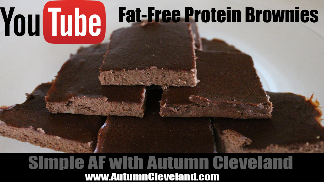 Fat-Free Protein Brownies